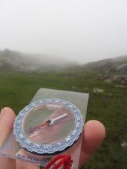 Enkelte ganger må man holde seg kun til kompasskurs når sikten er dårlig...