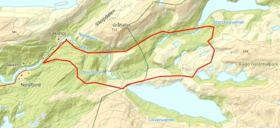 Kart over Rago
